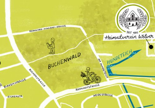 Atilde Design Heimatverein Welver Karte