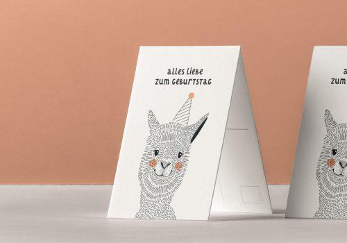 Atilde Design Mi-Ea Son Alpaka Werbeagentur Postkarte Kreis Soest Hamm Werl Welver